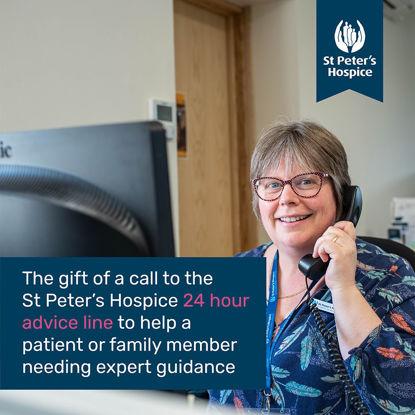 A call to our 24 hour advice line